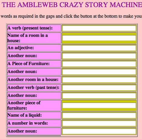 Ambleweb - Crazy Story Maker   Technology Ideas   Scoop.it