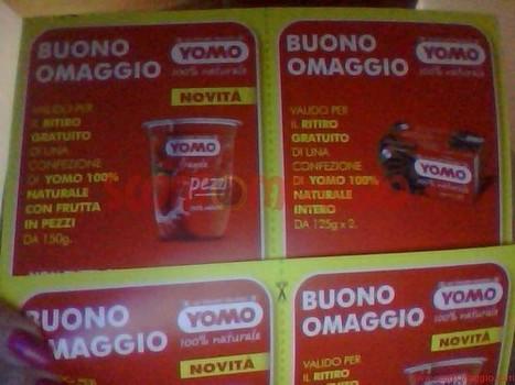 Buoni omaggio yogurt yomo ricevuti gratis co for Buoni omaggio