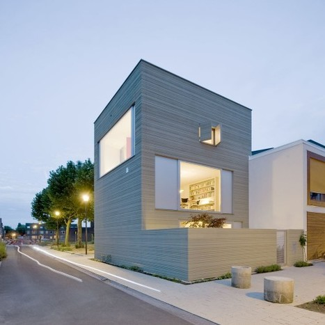 Stripe House: A beautiful, efficient live/work townhouse in the Netherlands | sustainable architecture | Scoop.it