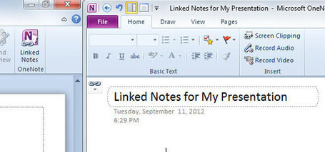 Linked Notes in PowerPoint using OneNote | Digital Presentations in Education | Scoop.it