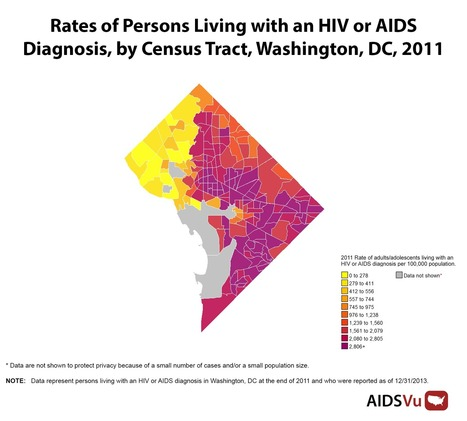 Amazing New Maps That Show AIDS and HIV Rates City by City, Block by Block | HIV and LGBT Health | Scoop.it