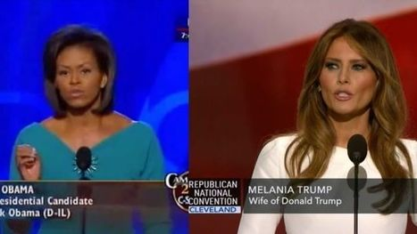 Melania Trump Apparently Plagiarized a Section of Michelle Obama's 2008 Convention Speech | Plagiarism | Scoop.it