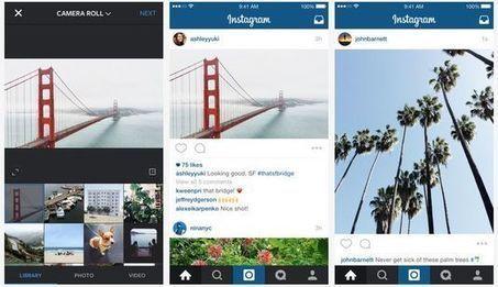 Instagram ne se limite plus aux images carrées   Tourisme et Formation   Scoop.it