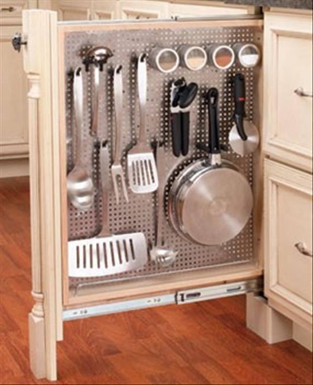 Sfruttare i piccoli spazi in cucina