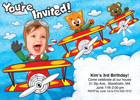 Lead your friends on this high flying party adventure! | kids birthday invites | Scoop.it