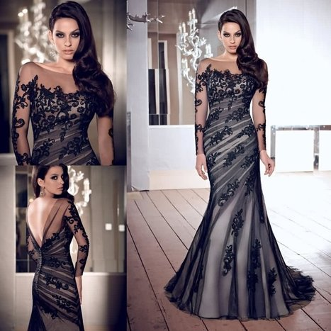 Latest Evening Dresses For Womens With Sleeves | A Style Life | Beauty And Fashion | Scoop.it