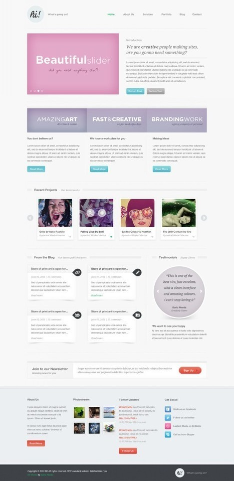 20 Exquisite Website PSD Templates (Free & Premium) | 7plusDezine | Web & Graphic Design | Scoop.it
