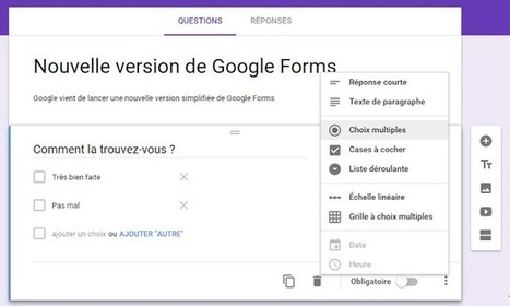 Google lance une nouvelle version simplifiée de Google Forms - Arobasenet.com | WEB : ressources et infos | Scoop.it