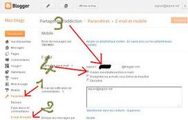 Partageons l'addiction: Blogger : publier un billet par mail | Freewares | Scoop.it