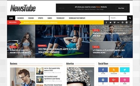 BTemplates: NewsTube | Blogger themes | Scoop.it