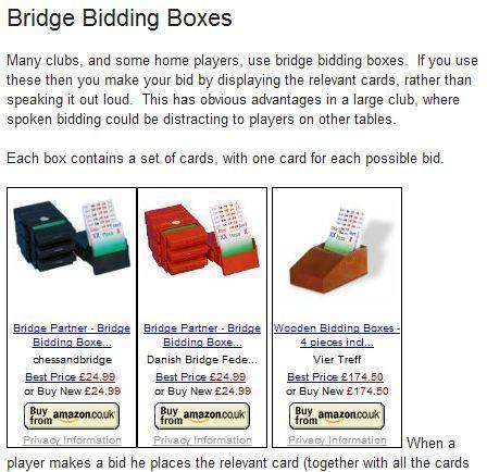 Bridge Bidding Boxes | Learn Acol Bridge | Scoop.it