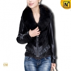 Women Sheepskin Leather Coat CW610028 - cwmalls.com | Fur Trimmed Coats | Scoop.it