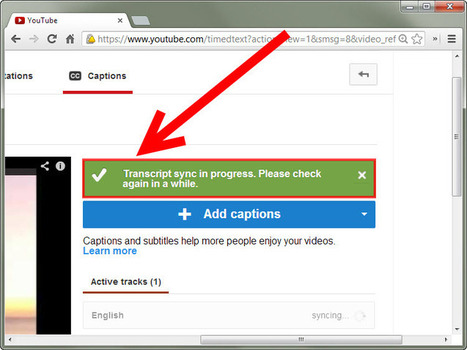 How to Add Subtitles to YouTube Videos | Tech in teaching | Scoop.it