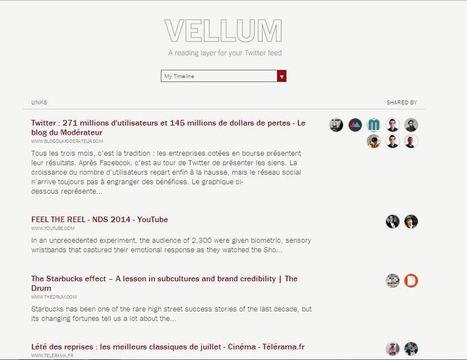 (super outil !) Vellum, un outil Twitter pour voir les liens les plus partagés par ses followers | François MAGNAN  Formateur Consultant | Scoop.it