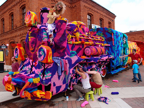 Olek's Biggest Yarn Bombing Project EVER – (Lodz, Poland) | Architecture and Sculptures | Scoop.it