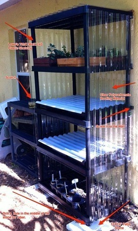 Build a cheap min-greenhouse out of old shelving units | Brian's Science and Technology | Scoop.it