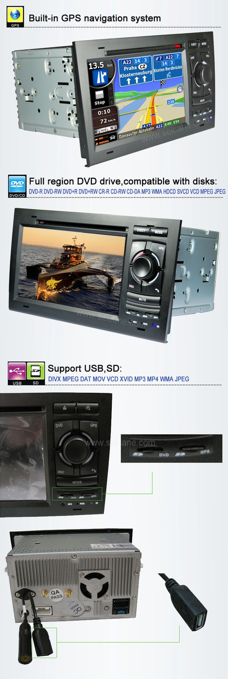 Car DVD player for Audi A4 S4 RS4 with gps radio tv bluetooth | car dvd gps | Scoop.it