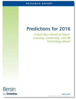 The Bold New World of Talent:  Predictions for 2016 | e-learning-ukr | Scoop.it