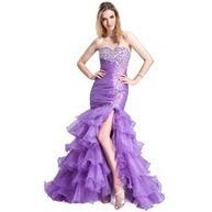 [US$ 186.99] Mermaid Sweetheart Sweep Train Organza Prom Dress With Ruffle Beading Sequins (018025267)   fantastic dresses   Scoop.it