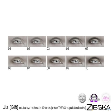 Neutral Eyes Makeup 10 Tones September 2016 Shiny Shabby Event Gift by Zibska | Teleport Hub - Second Life Freebies | Second Life Freebies | Scoop.it