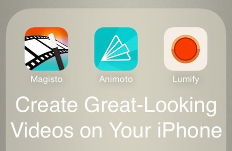 3 Excellent Free iPhone Apps for Video Editing, Creation | iGeneration - 21st Century Education | Scoop.it