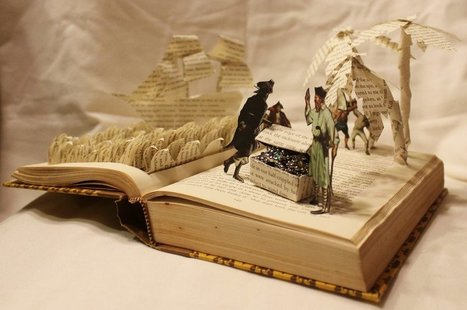 IMAGES : REALISATIONS D'OBJETS DECORATIFS A PARTIR DE LIVRES… | Ca m'interpelle... | Scoop.it