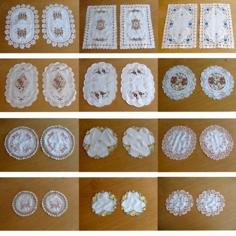 Set of 2 Embroidered Doilies | Soft Furnishings | Scoop.it