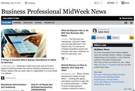 Aug 15 - Business Professional MidWeek News | Business Futures | Scoop.it