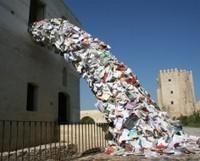 Art Installation Shows Books Bursting Off The Library Shelves @PSFK | SocialLibrary | Scoop.it