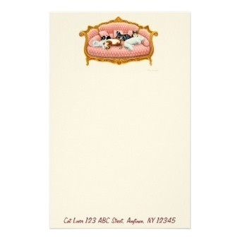 Royal Cat Nap Customizable Stationery from Zazzle.com | Artistic Stationery | Scoop.it