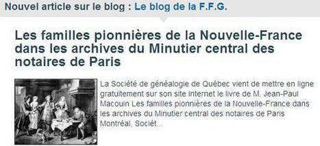 Article du jour (226) : Minutier central, de nouvelles mises en ligne | Charentonneau | Scoop.it