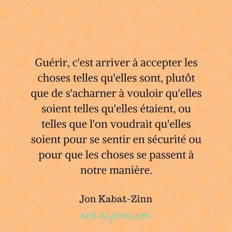 7 leçons de pleine conscience par Jon Kabat-Zinn | carte mentale | Scoop.it