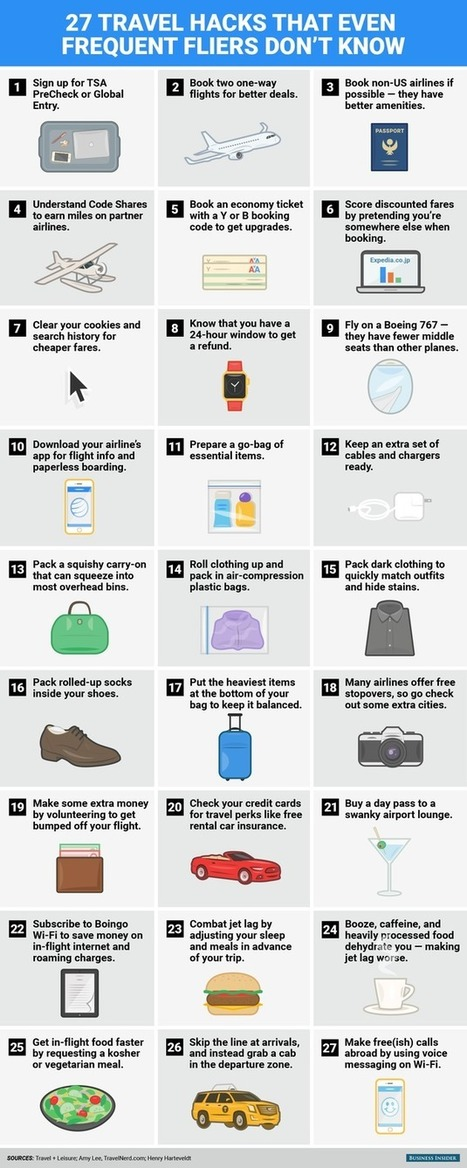 27 Game-Changing Hacks Every Frequent Flier Should Know | Travel | Scoop.it