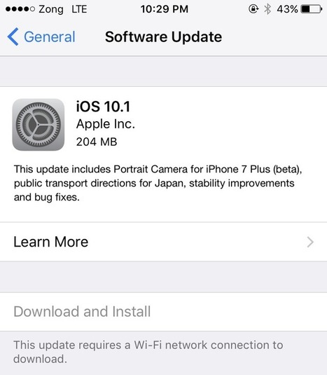 5 Reasons To Download iOS 10.1 for iPhone and iPad | Cydia Tweaks & Jailbreak News | Scoop.it