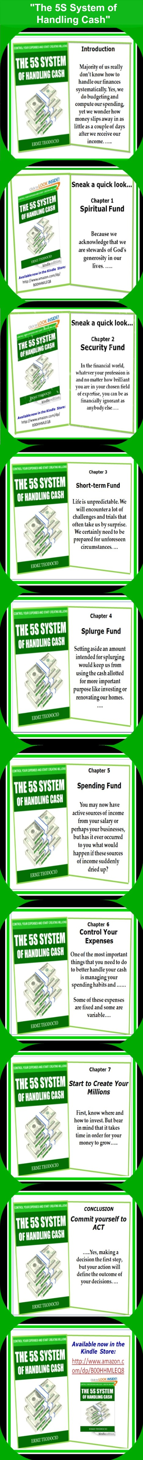 "Sneak peak of the book ""The 5S System of Handling Cash"" – Infographics 