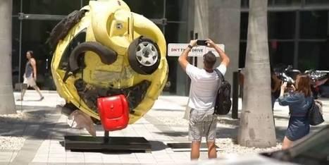 Carro batido vira emoji para alertar sobre o perigo de teclar e dirigir | Out of Home | Scoop.it