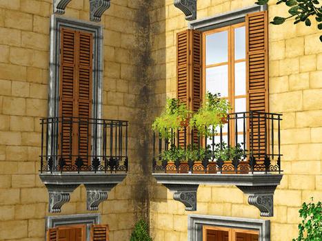 Murano's Rejal Balconies : Free   sims3   Scoop.it