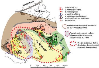 Un 'supervolcán' arrasó el norte de la península ibérica hace 477 millones de años | Biología de Cosas de Ciencias | Scoop.it