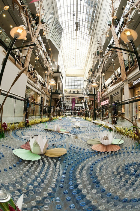 Fragile installation - Massive Recycled Materials Garden in Mall | BASIC VOWELS | Scoop.it