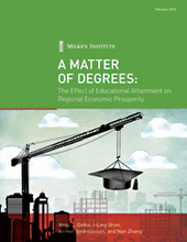 Report: A Matter of Degrees. The Effect of Educational Attainment on Regional Economic Prosperity | TRENDS IN HIGHER EDUCATION | Scoop.it