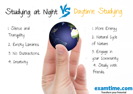 What is the Best Time to Study? Day vs Night | ExamTime | Scoop.it