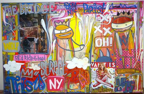 Deux peintures de la série From NYC to Paris by Tarek | Les créations de Tarek | Scoop.it