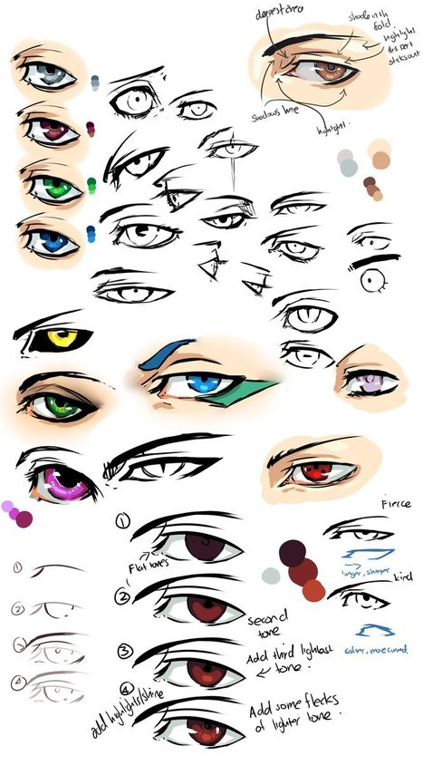 Anime Eyes Drawing Reference | Drawing References and Resources | Scoop.it