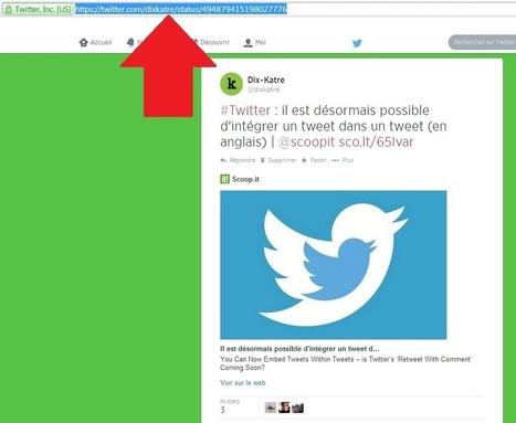 #Twitter : comment intégrer un tweet dans un autre tweet ?   Going social   Scoop.it