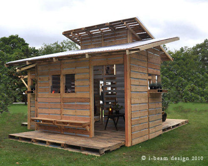 I-BeamDesign pallet house - Recyclart   rapidindustries   Scoop.it