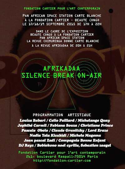 AFRIKADAA: AFRIKADAA PRÉSENTE SILENCE BREAK ON-AIR À LA FONDATION CARTIER | Afro design and contemporary arts | Scoop.it