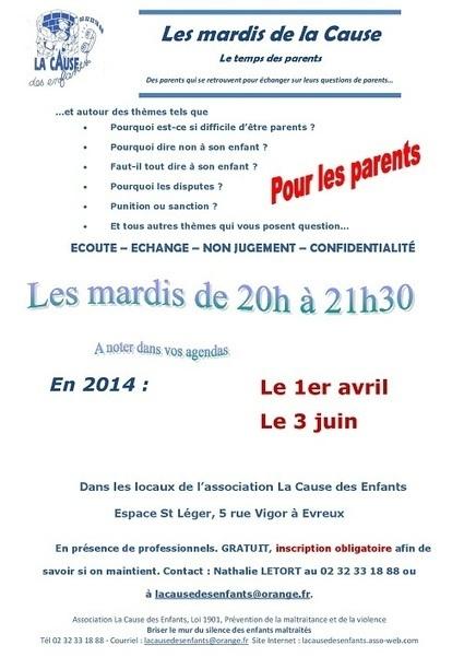 Séance des Mardis de la Cause le mardi 1er avril de 20h à 21h30 à Evreux - Accueil - eureasso.fr | Eureasso.fr | Scoop.it
