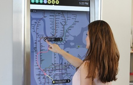NYC subway replacing station maps with touch screen kiosks | Cartography | Scoop.it