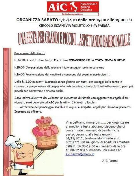 AIC Parma, 1° edizione Concorso della torta senza glutine | senza glutine | Scoop.it