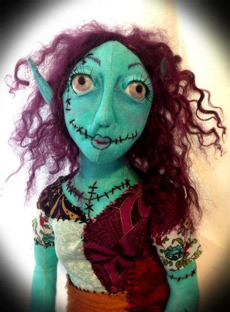 OOAK Handmade Zombie Pixie Cloth Art Doll - Nyx   Cloth art dolls   Scoop.it